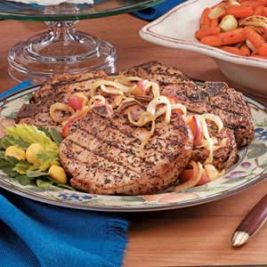 Pork Chops with Onions and Apples image