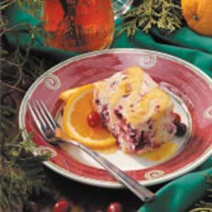 Cranberry Cake with Orange Sauce image