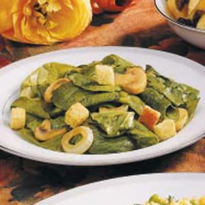 Warm Spinach Mushroom Salad