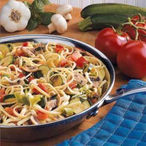 Colorful Vegetarian Linguine