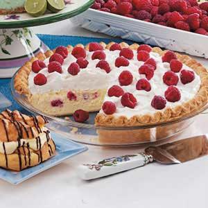 Raspberry Cheesecake Pie image