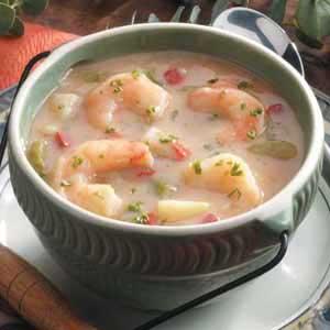 Low-Fat Shrimp Chowder
