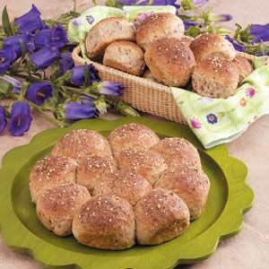 Three Grain Pan Rolls