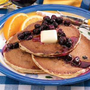 Blueberry Buttermilk Pancakes_image