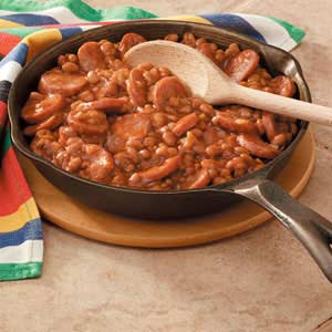 Kielbasa with Baked Beans