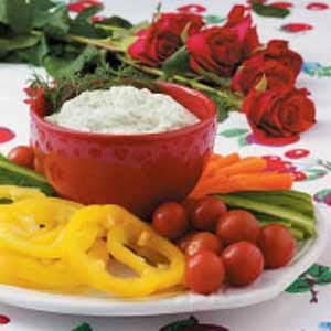 Creamy Dill Dip with Veggies image