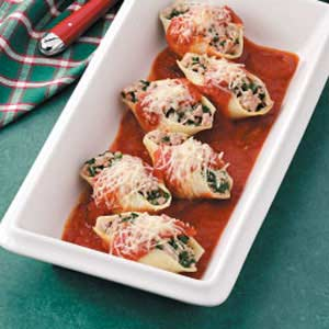 Spinach-Pork Stuffed Shells