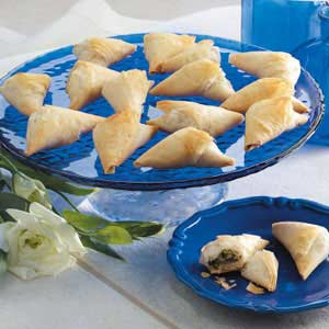 Spinach Phyllo Bundles image