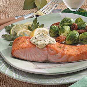 Salmon with Dijon Mayonnaise image