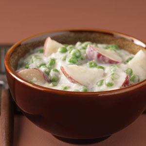 Creamed Potatoes & Peas image