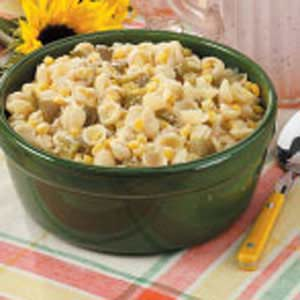 Parmesan Pasta and Corn image