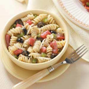Spiral Pasta Salad with Marjoram Vinaigrette