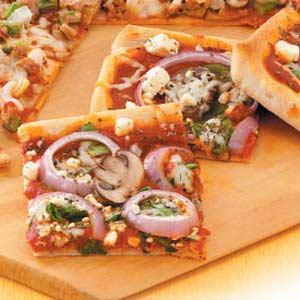 Feta Spinach Pizza image