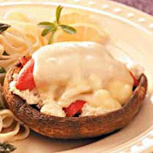 Crab-Stuffed Portobellos image