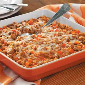 Italian Sausage Rice Casserole