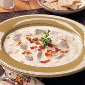 Creamy Bacon Mushroom Soup image