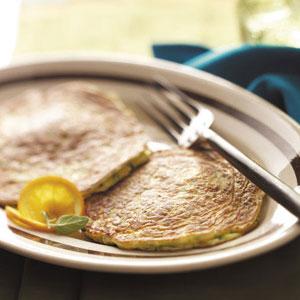 Basil Zucchini Pancakes image