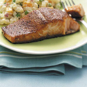 Grilled Curried Salmon image
