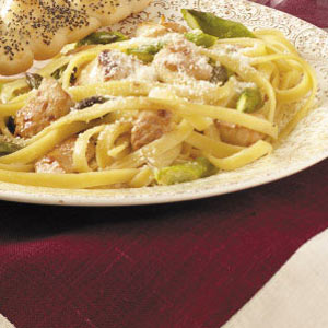 Chicken Asparagus Pasta image