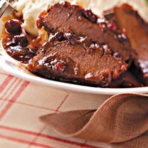 Cranberry Brisket with Horseradish Mashed Potatoes image