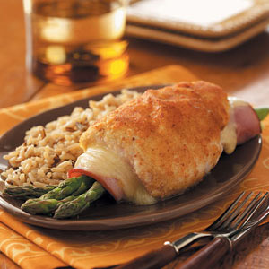 Asparagus-Stuffed Chicken Rolls image