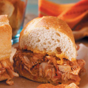 Barbecued Chicken Hoagies image