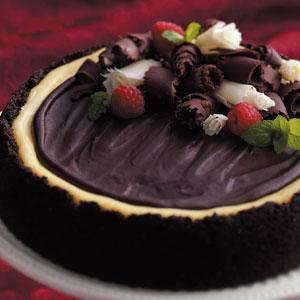 Triple-Layer Chocolate Cheesecake
