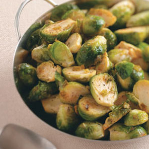 Lemon-Pepper Brussels Sprouts image