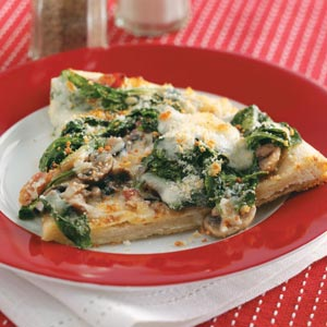 Classic Spinach Pizza image
