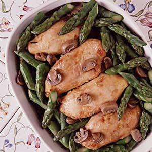 Asparagus, Chicken, Wild Rice Casserole image