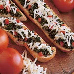 Spinach Garlic Bread