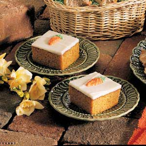 Frosted Carrot Bars image