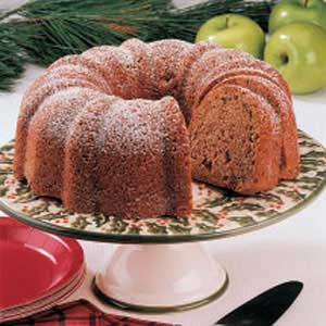 Walnut Apple Tube Pan Cake image