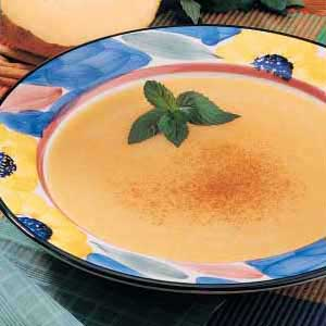 Chilled Cantaloupe Soup Recipe Taste Of Home Vegan if whipped cream is omitted. chilled cantaloupe soup