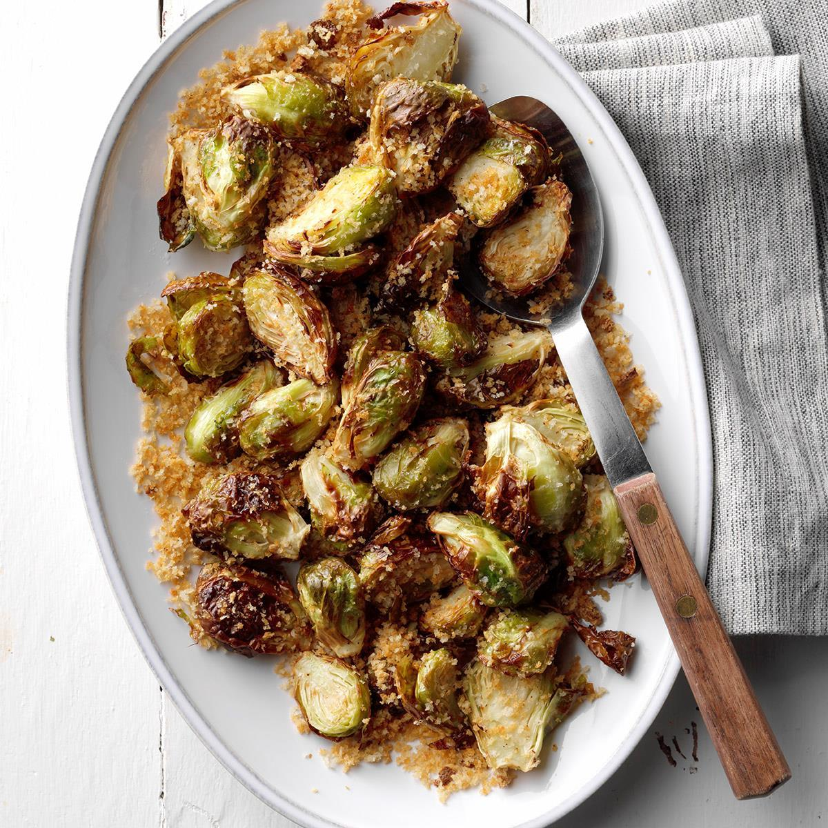 Air-Fryer Garlic-Rosemary Brussels Sprouts