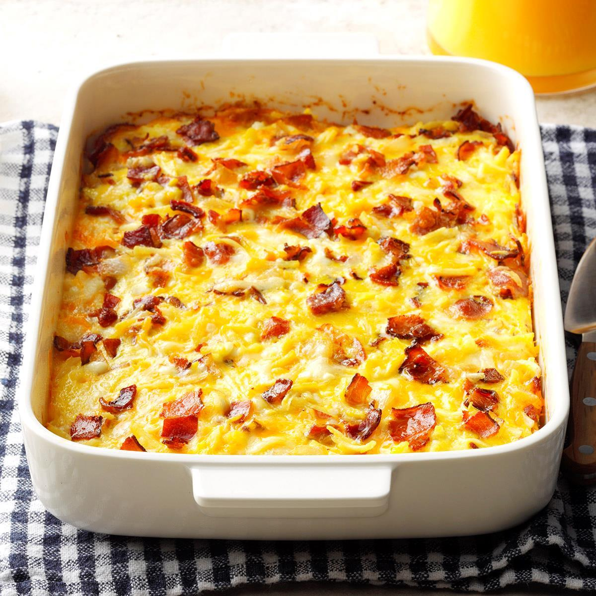 amish breakfast casserole recipe taste of home rh tasteofhome com