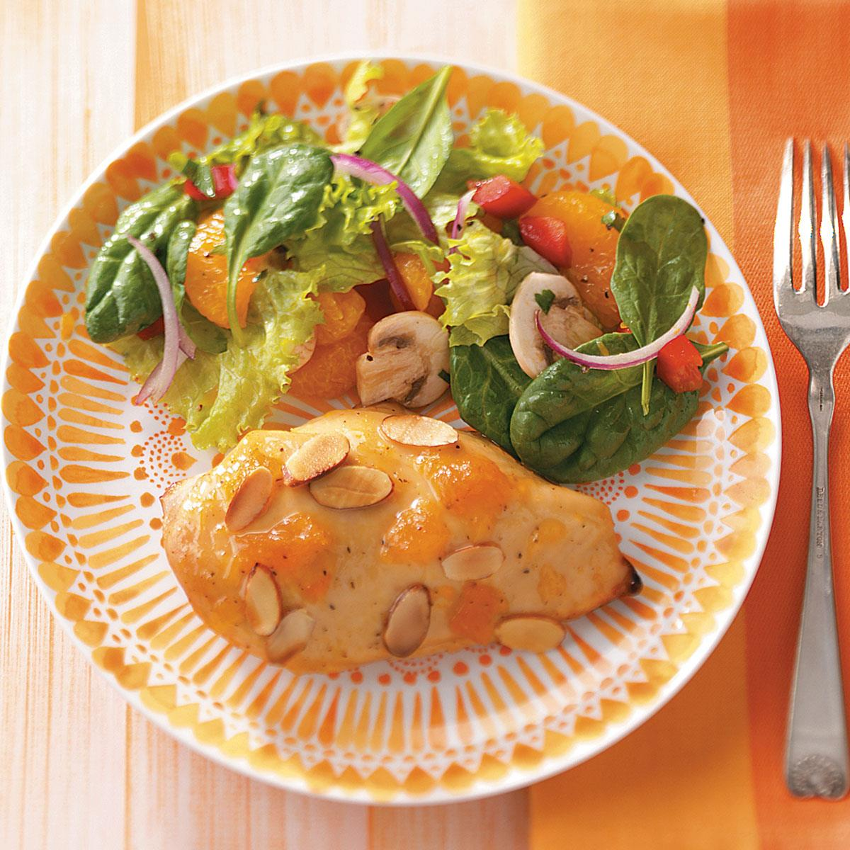 Apricot-Almond Chicken Breasts. ""