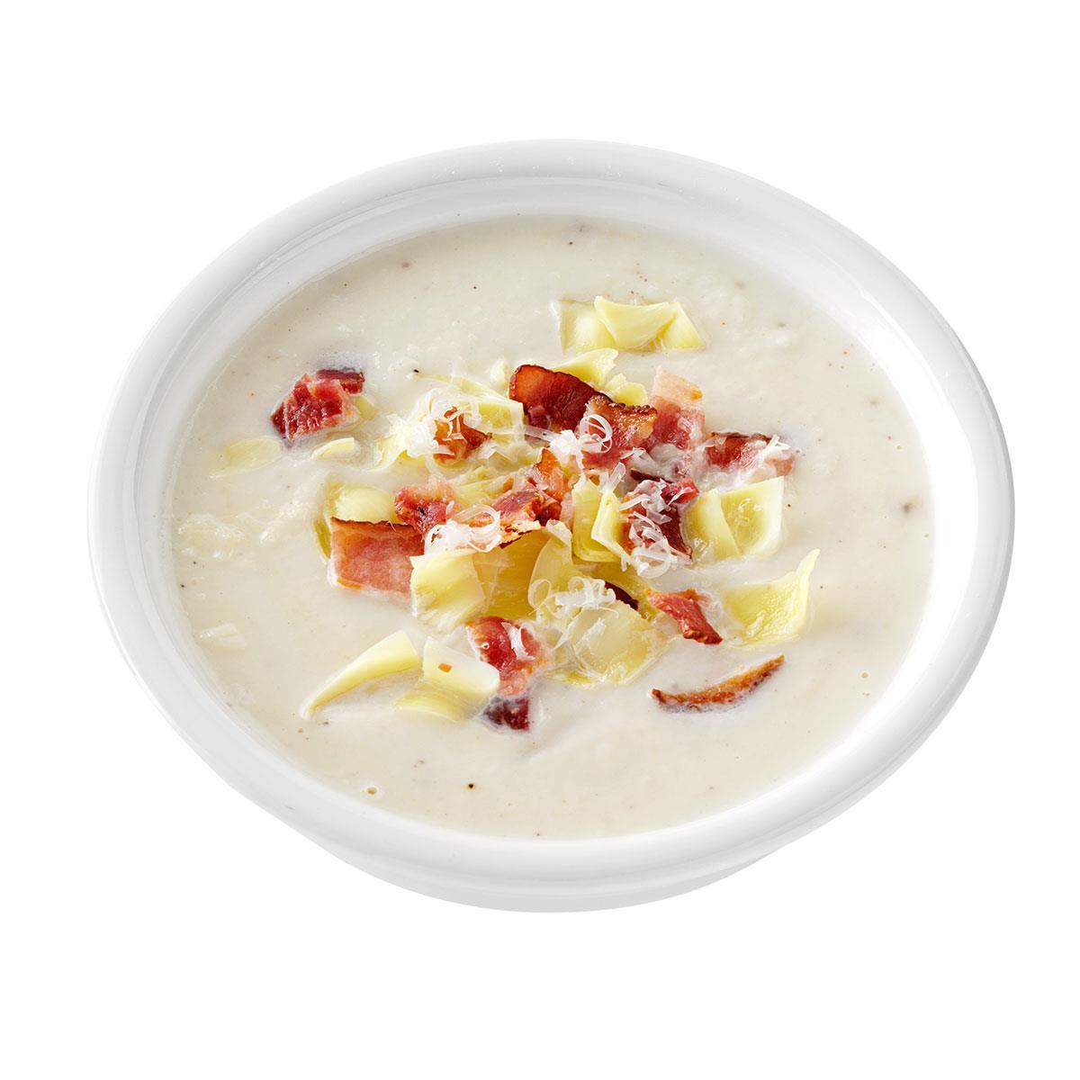 Artichoke & Bacon Cauliflower Soup   Taste of Home