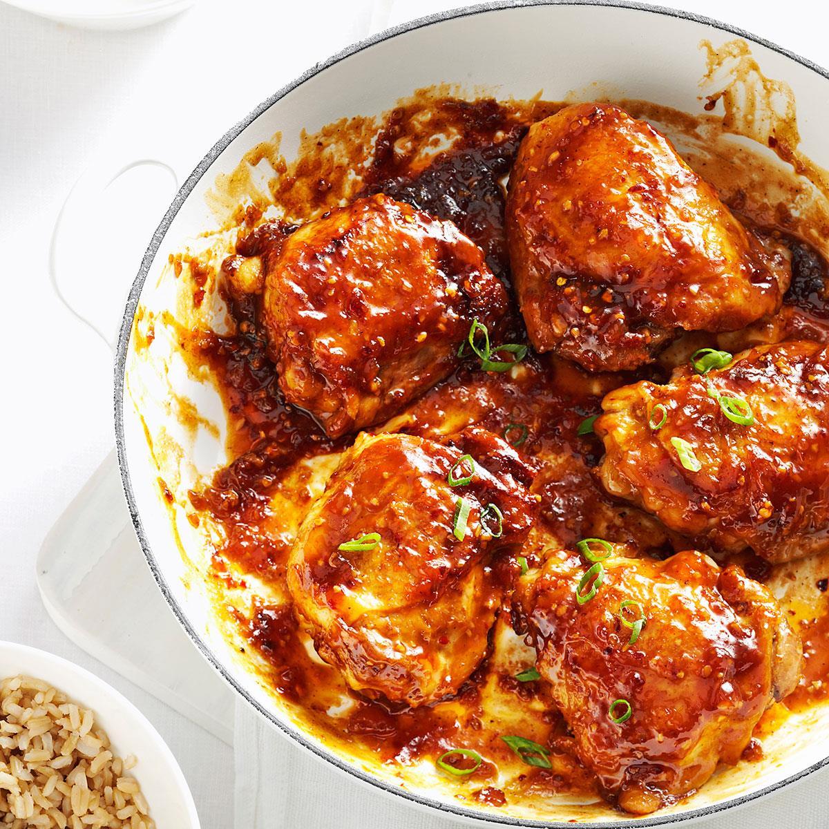 Asian chicken thighs recipe taste of home forumfinder Gallery