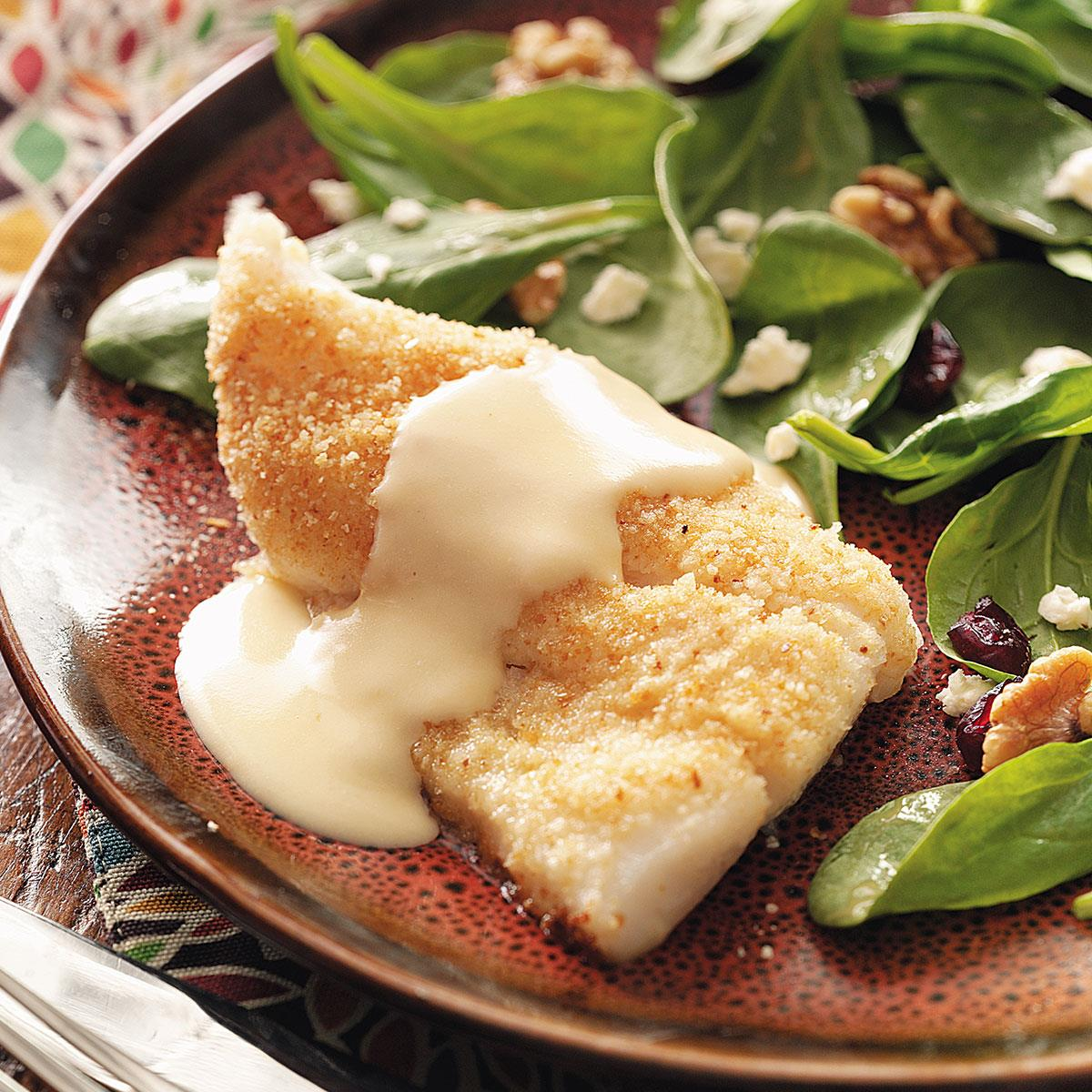 baked fish with cheese sauce for two recipe taste of home
