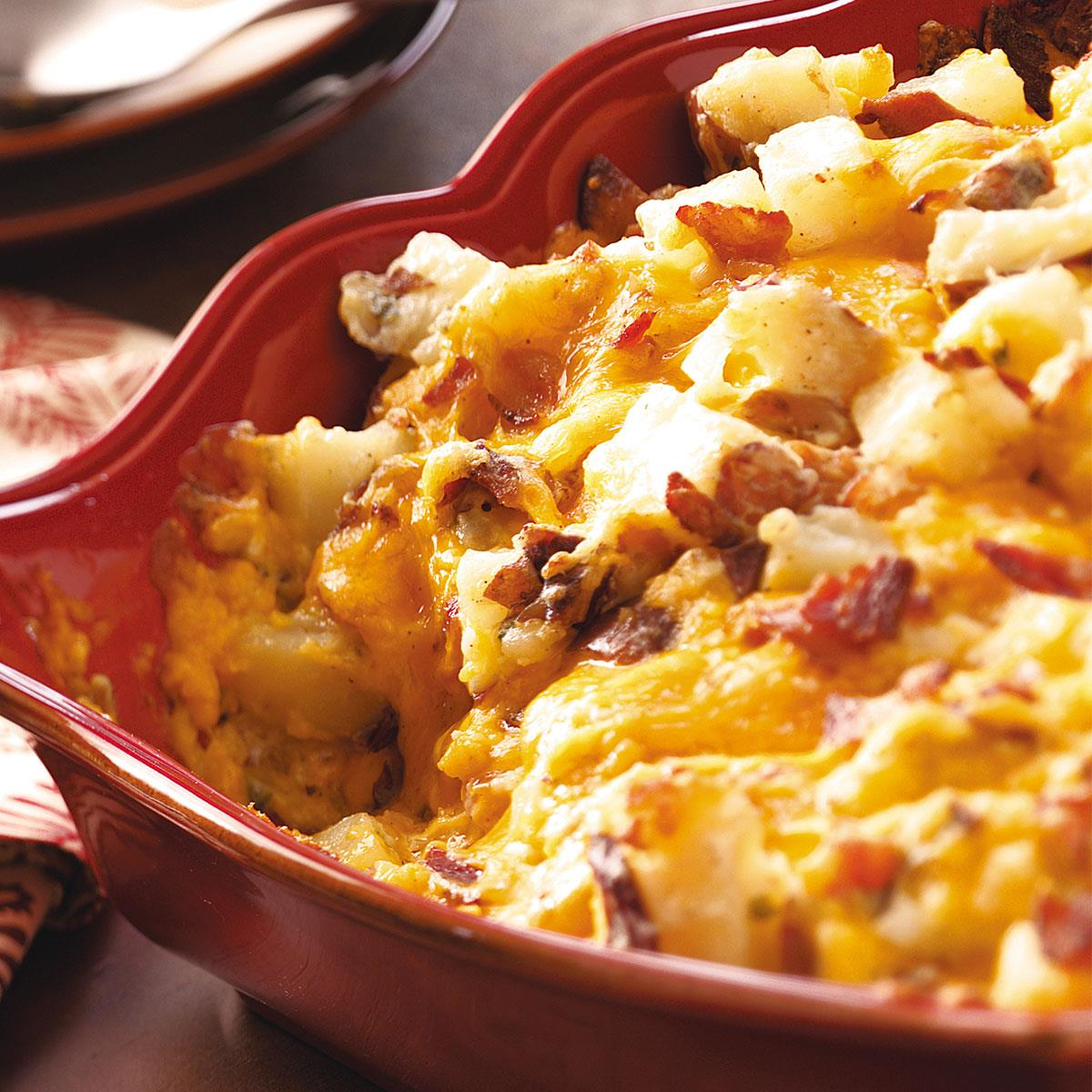 Potatoes in the oven with cheese, mayonnaise and sour cream 88