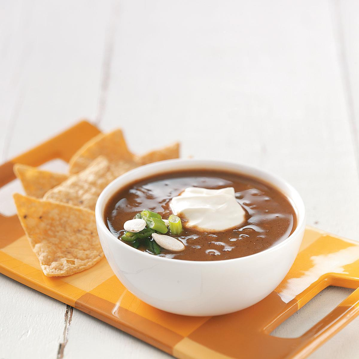 Black Bean-Pumpkin Soup Recipe | Taste of Home