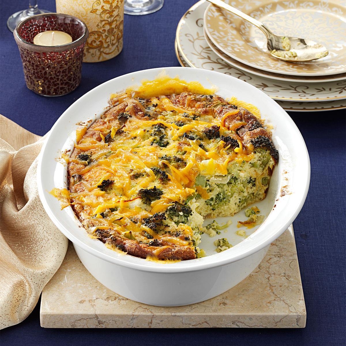 broccoli cheddar casserole recipe | taste of home