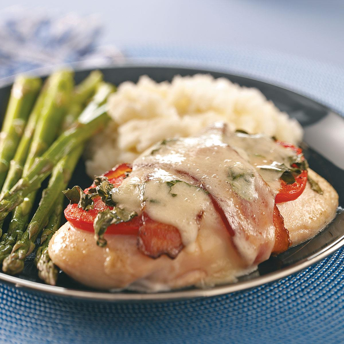 Caprese chicken with bacon recipe taste of home forumfinder Images