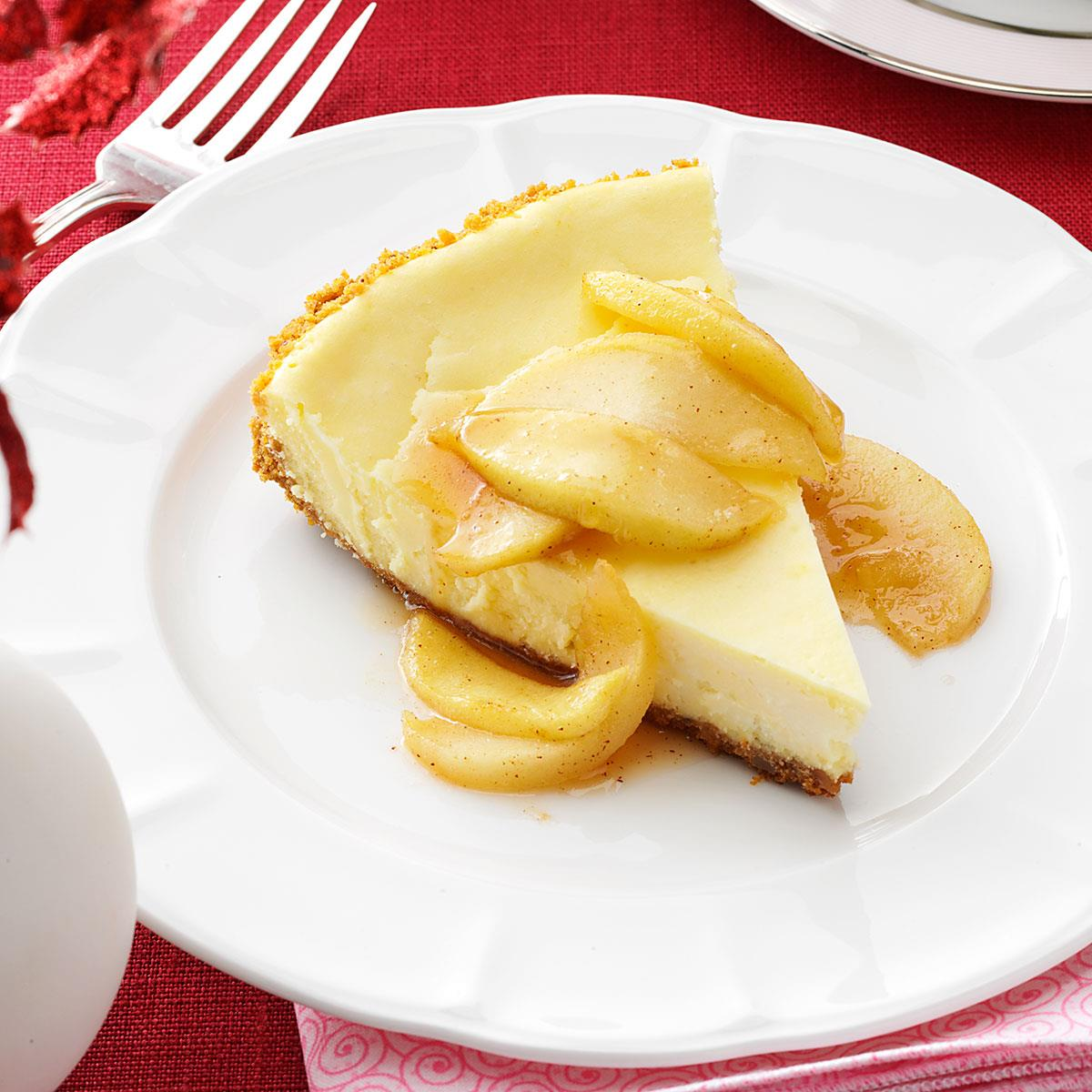 cheesecake with caramel apple topping recipe taste of home