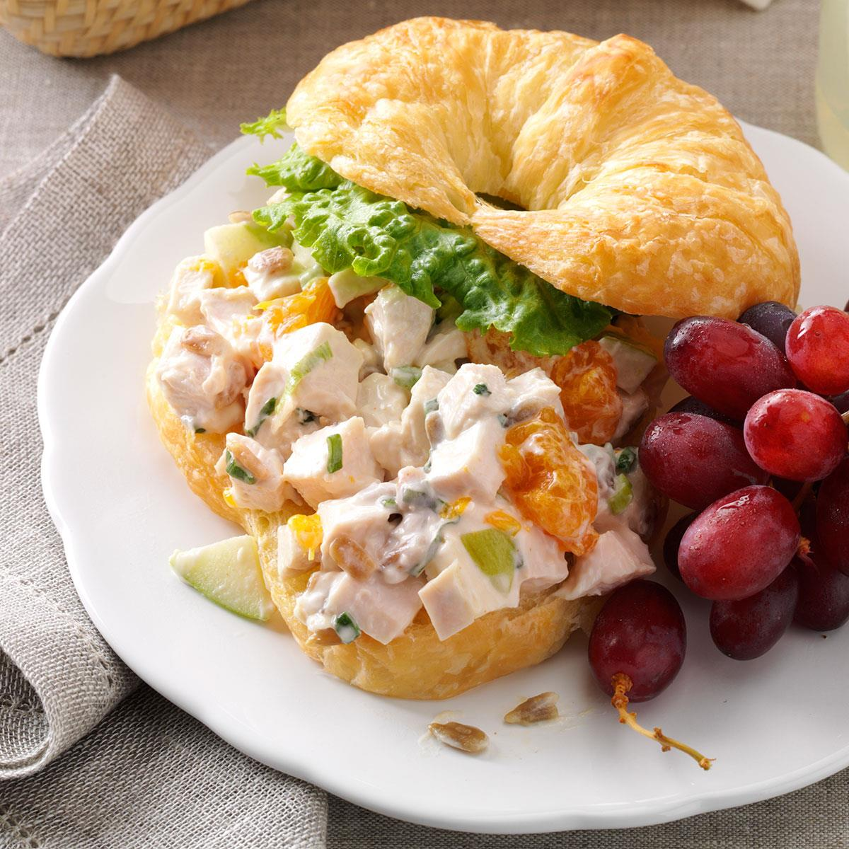 Chicken Croissant Sandwiches Recipe Taste Of Home