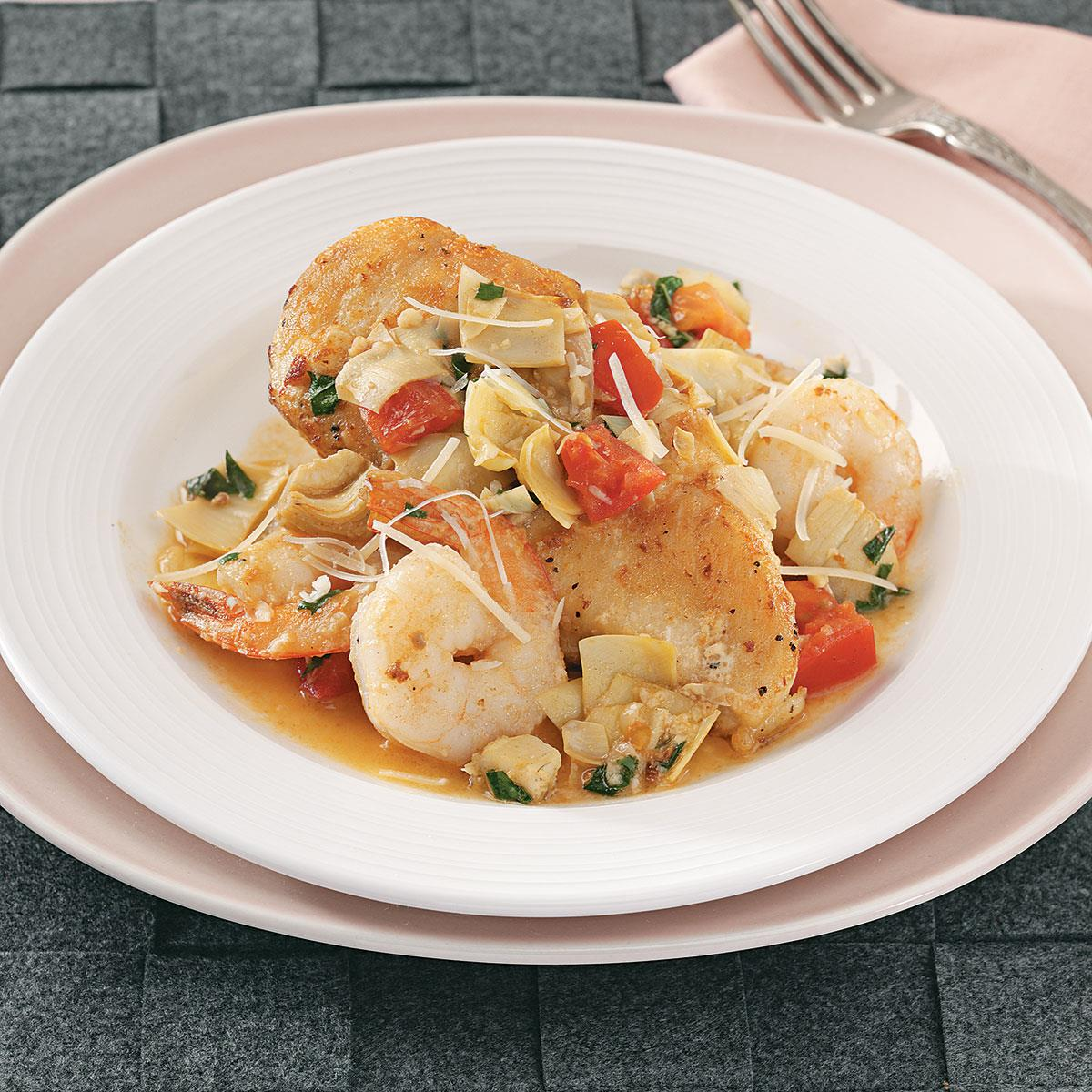 Chicken With Artichokes And Shrimp Recipe Taste Of Home