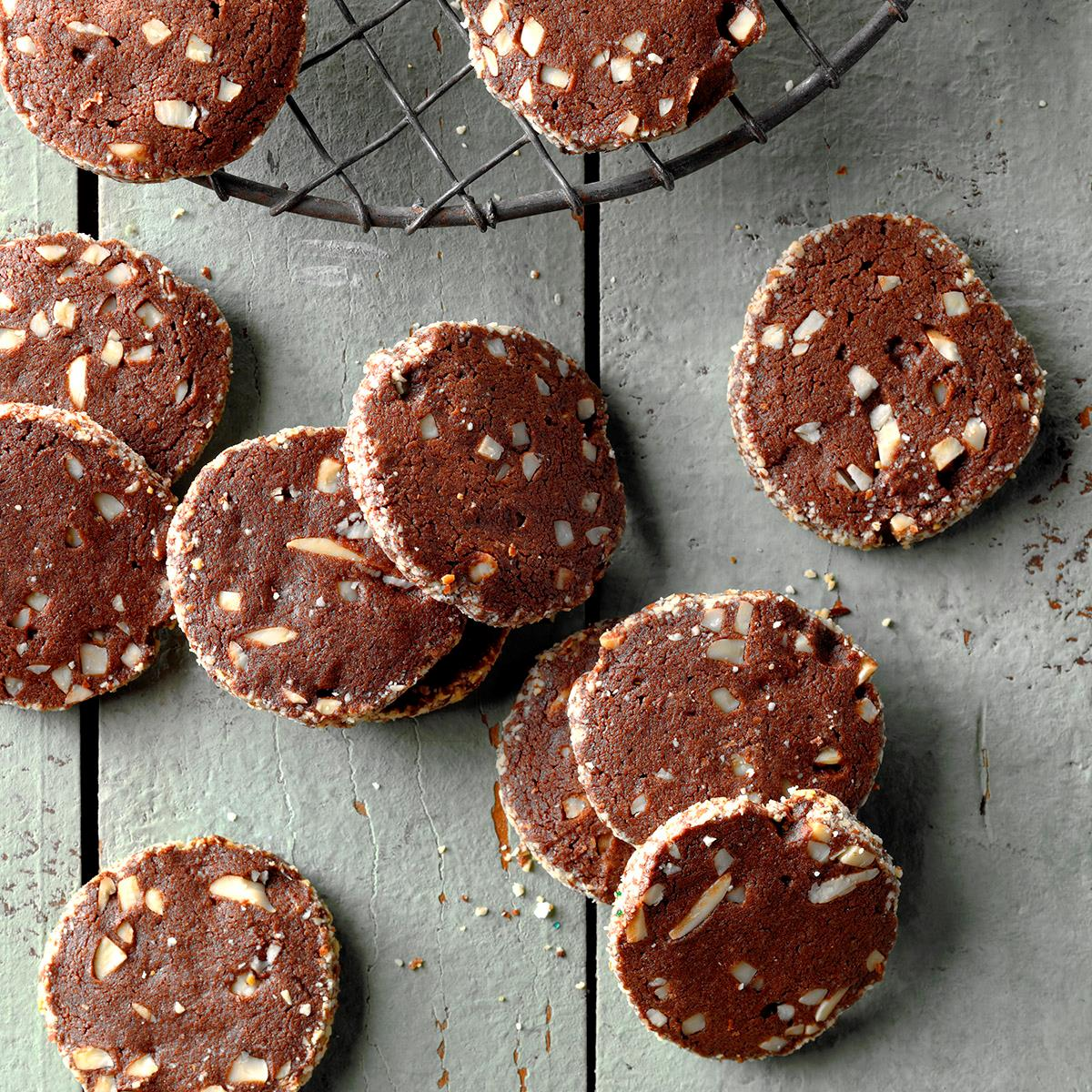 Chocolate Almond Wafers
