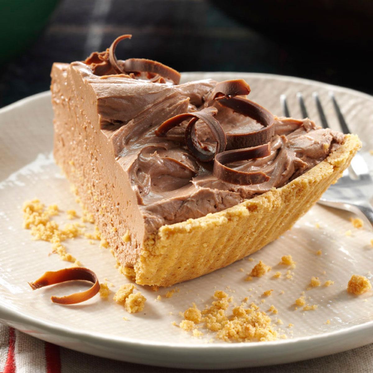 Chocolate Cheesecake Pie Recipe Taste Of Home