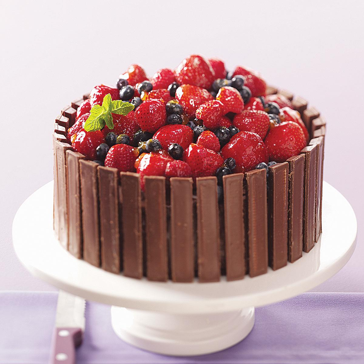 Chocolate Fruit Basket Cake Basic Ingredients Jazz Up This Easy